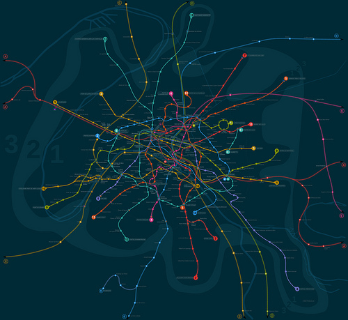 geolocalized paris metro map